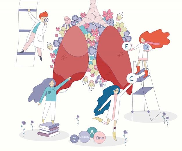 Zdrowe płuca i lekarze