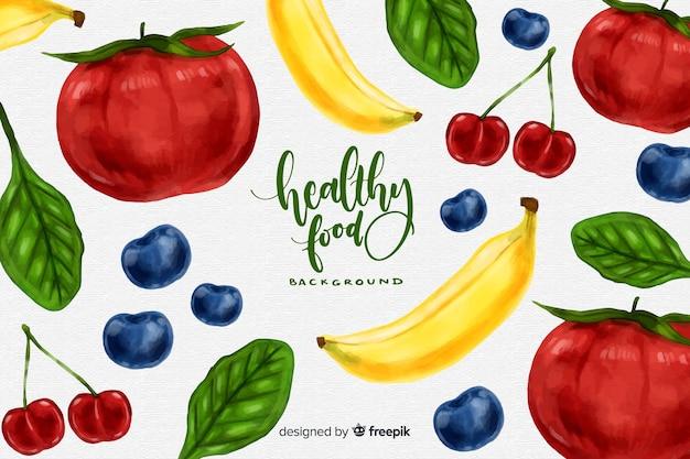 Zdrowe tło żywności