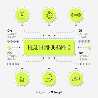 Zdrowie infographic szablonu stylu płaski