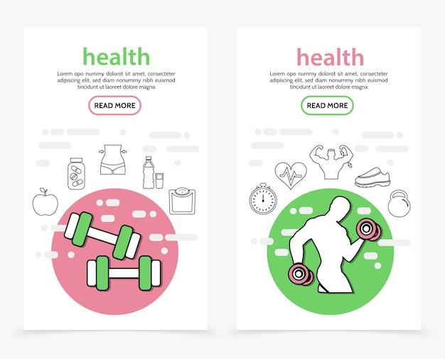 Zdrowie pionowe banery