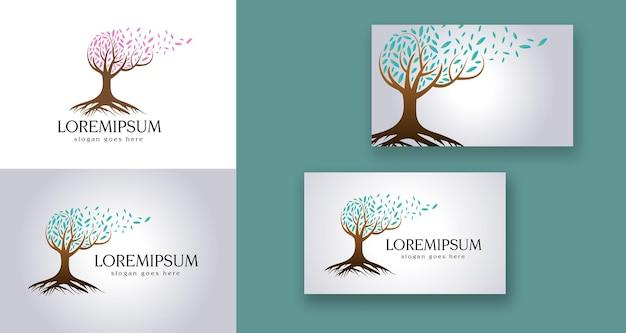 Zdrowie psychiczne drzewo mózgu natura logo medyczne