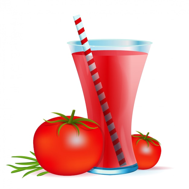 Zdrowy napój koktajlowy z pomidorami
