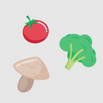 Zdrowy świeży warzywo żniwa wektorowy projekt