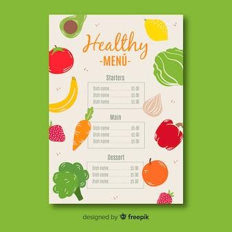 Zdrowy szablon menu