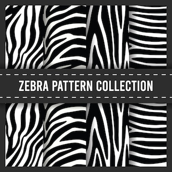 Zebra stripes print seamless pattern set