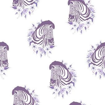 Zebra wzór, ilustracja, zwierzę.