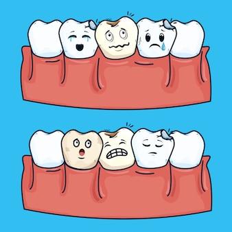 Zęby opieki zdrowotnej i opieki stomatologicznej