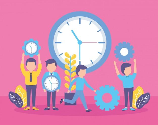 Zegar czasu ludzi biznesu