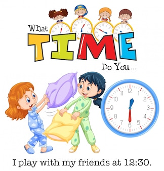 Zegar i czas dzieci