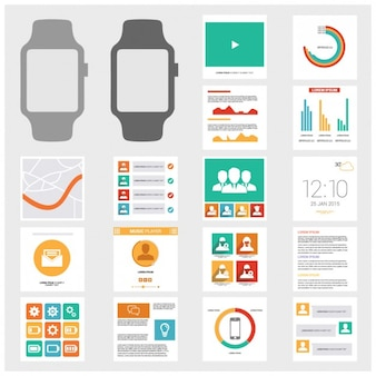 Zegar infographic szablony