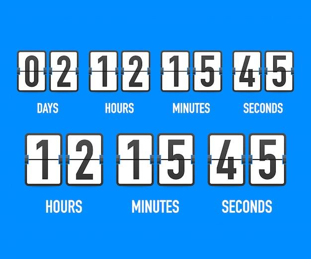 Zegar odliczający czas.