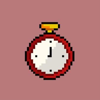 Zegar ze stylem pixel art