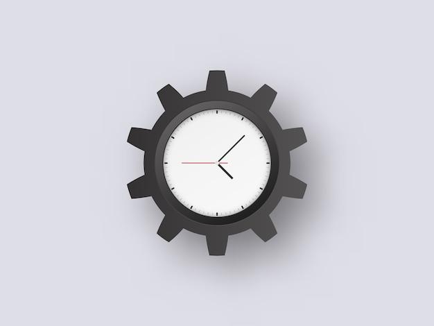 Zegar zębaty duży sur.