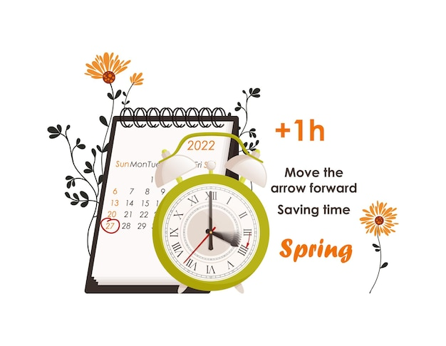 Zegary poruszają się po koncepcji czasu letniego