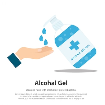 Żel alkoholowy. żel do mycia rąk żel do mycia rąk i bakterie