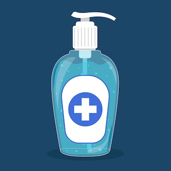Żel do mycia rąk butelki odkażające płaska