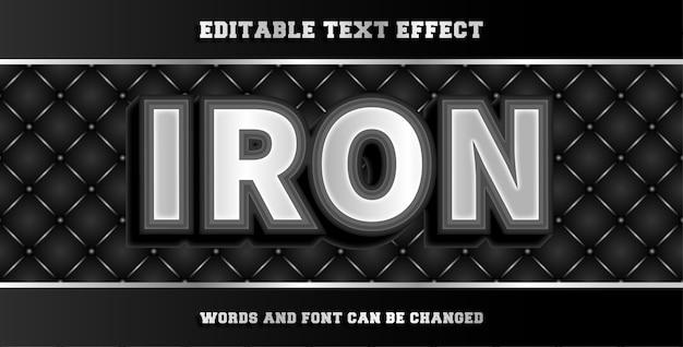 Żelazny edytowalny efekt tekstowy