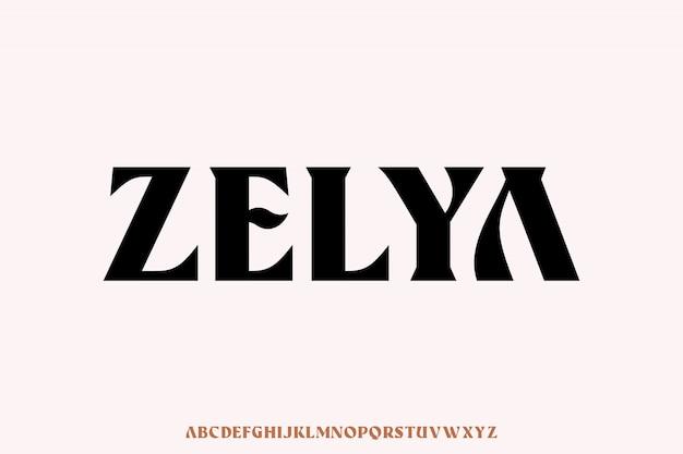 Zelya, luksusowa i elegancka czcionka z dużymi literami