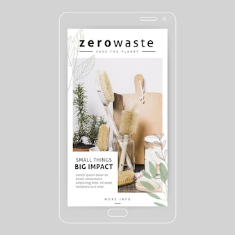 Zero marnotrawstwa instagram story concept