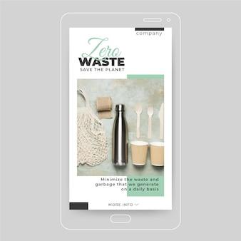 Zero odpadów ekologia instagram post