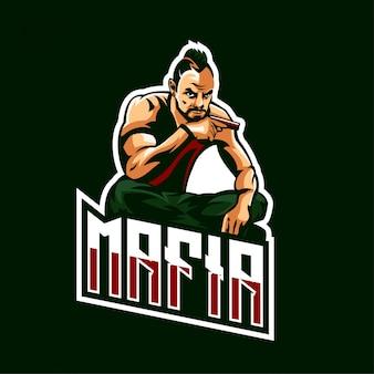 Zespół e-sportowy mafia logo gaming