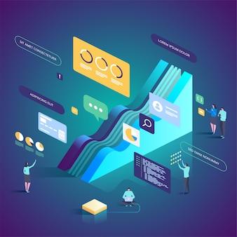 Zespół ekspertów ds. analizy danych i ilustracji usług konsultingowych
