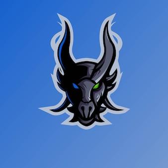 Zespół esportowy logo maskotki smoka