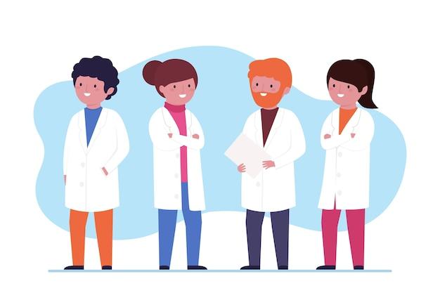 Zespół farmaceutów na pierwszej linii