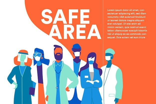 Zespół lekarzy i pielęgniarek w maskach