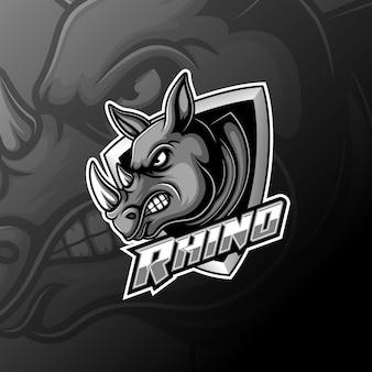 Zespół logo rhino e sport