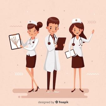 Zespół pielęgniarki wyciągnąć rękę