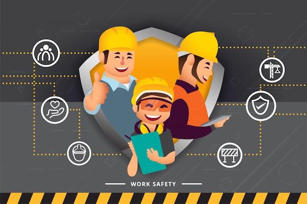 Zespół pracowników budowlanych i inżynierów