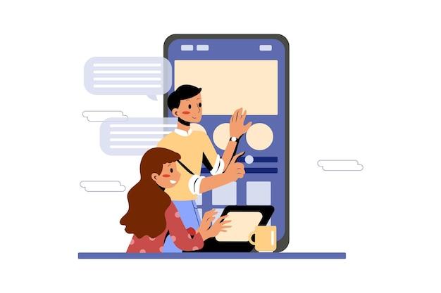 Zespół produktowy pracujący razem nad rozwojem aplikacji mobilnych