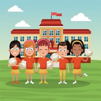 Zespół szkolny dziewcząt voleyball