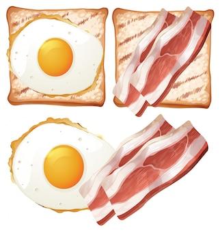 Zestaw śniadaniowy tosty