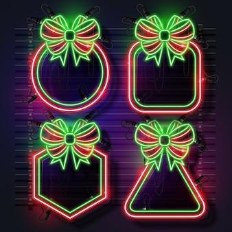 Zestaw świąteczny neon neon