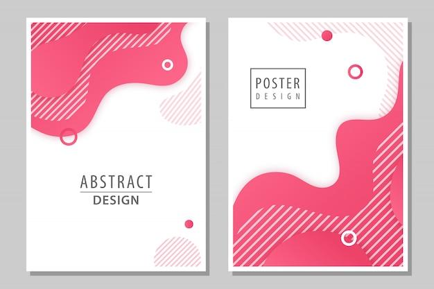 Zestaw 2 abstrakcyjnych plakatów.