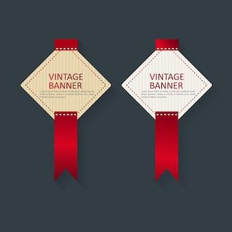 Zestaw 2 nowy stylowy vintage banery