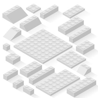 Zestaw 21 różnych szczegółów. zestaw, cegły.