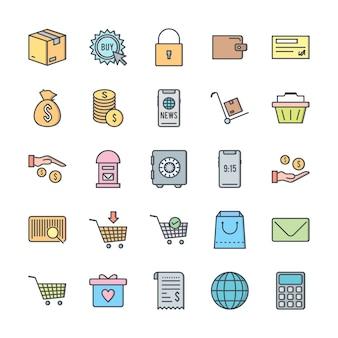 Zestaw 25 ikon e-commerce