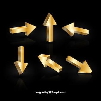 Zestaw 3d złote strzały