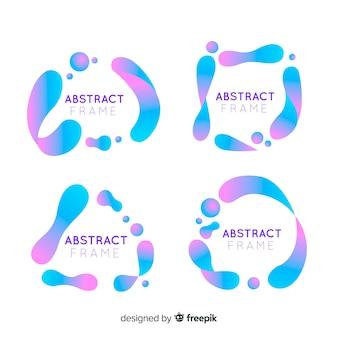 Zestaw abstrakcyjna ramki