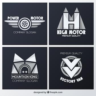 Zestaw abstrakcyjne logo pojazdów