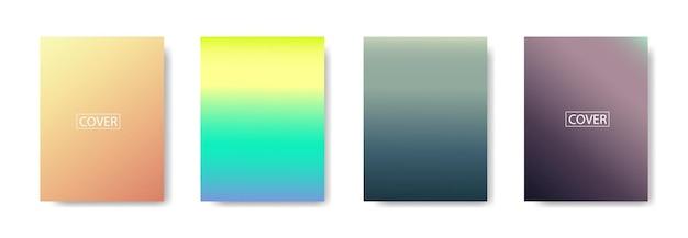 Zestaw abstrakcyjne tło z pięknym kolorem gradacji, kolorowe tło dla plakatu ulotki banner backdrop.vertical banner.cool płynne tło wektor ilustracja