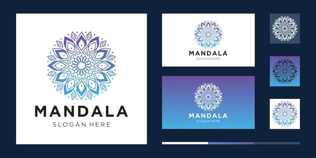 Zestaw abstrakcyjnego symbolu mandali kwiat w ozdobnym stylu arabskim