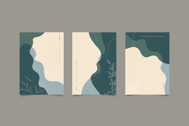 Zestaw abstrakcyjnej, minimalistycznej, nowoczesnej kolekcji okładek