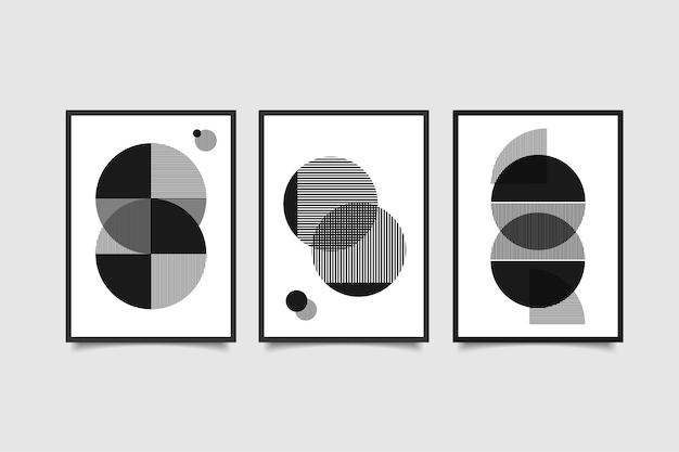 Zestaw abstrakcyjnej współczesnej sztuki ściennej