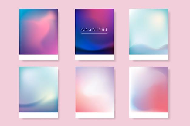 Zestaw abstrakcyjny szablon gradientu