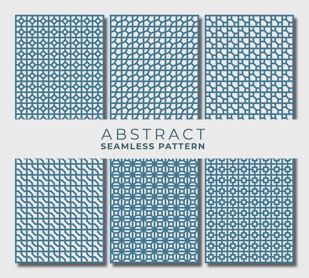 Zestaw abstrakcyjny wzór bez szwu