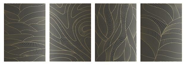 Zestaw abstrakcyjny wzór falisty tła z teksturą fal